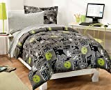 My Room Extreme Skateboarding Boys Comforter Set With 180Tc Sheets, Gray, Twin Reviews