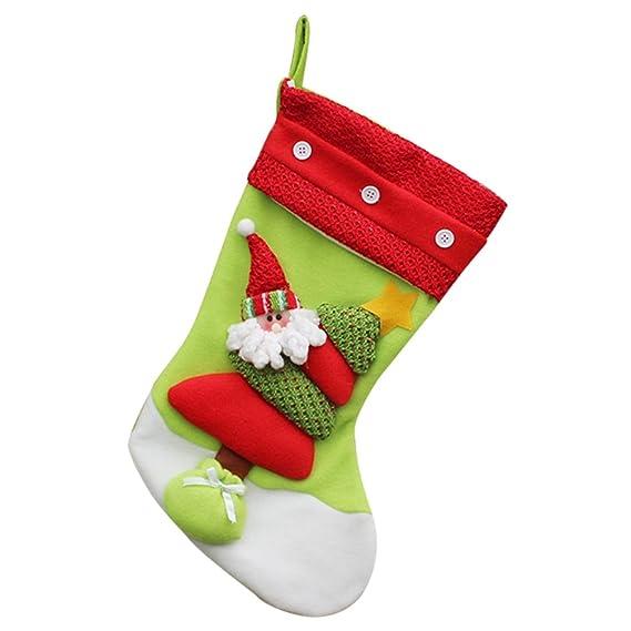YiLianDa Decoración Navidad Calcetines Calcetín De Navidad Almacenamiento De Dulces Para Navidad: Amazon.es: Ropa y accesorios
