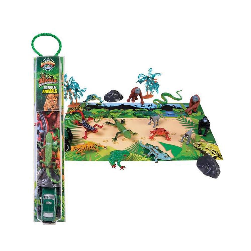 18 Pc Jungle Animals Tube