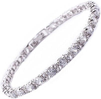 Green Emerald Bracelet femmes mariage bijoux 18K blanc plaqué Or livraison gratuite