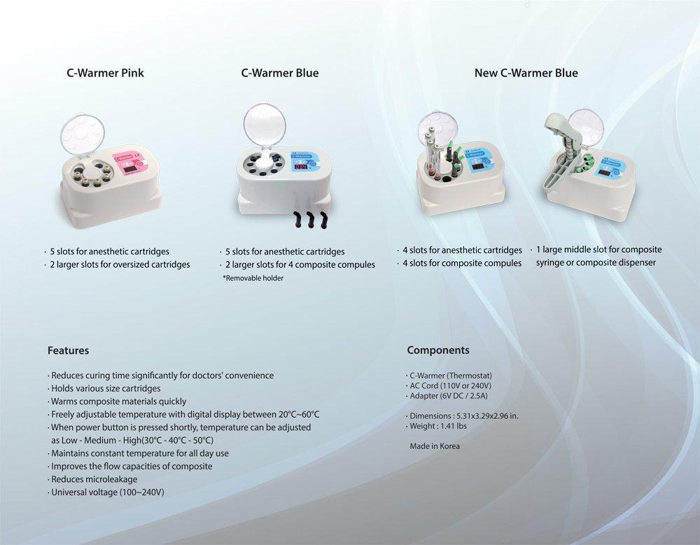 C-Warmer BLUE/ Dental Composite Compule Anesthetic Cartridge Warmer