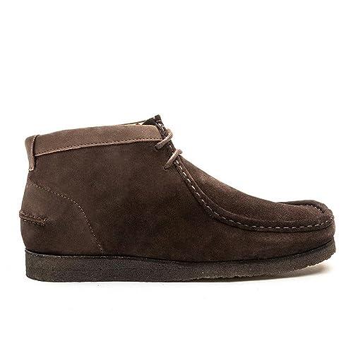 Hush Puppies Davenport High Chocolate Brown Suede Chukka Boots-UK 10: Amazon.es: Zapatos y complementos