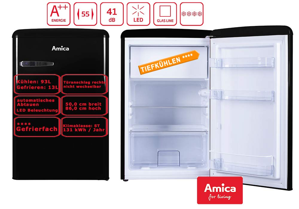 Amica KS15614S nevera y congelador Independiente Negro A++ ...