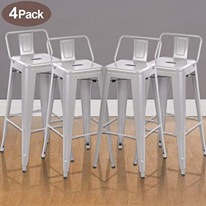 Superb Amazon Com Bar Stools Set Of 4 Metal Chairs Bistro Cafe Gmtry Best Dining Table And Chair Ideas Images Gmtryco