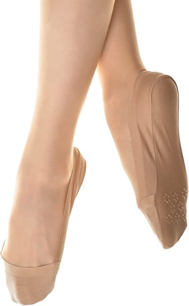 6 Pair Women No Show Liner Cotton Bottom Socks