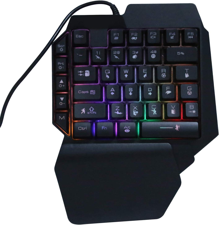 Vipxyc Gamepad con Cable Teclado periférico Adaptador de ...