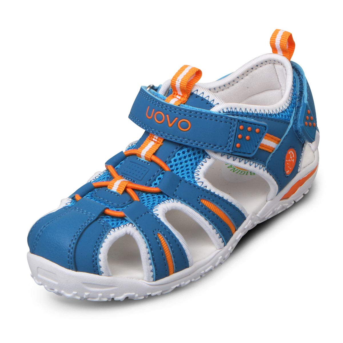 UOVO Boys Sandals Hiking Athletic Closed-Toe Beach Sandals Kids Summer Shoes (2 M US Little Kid, Blue-2)