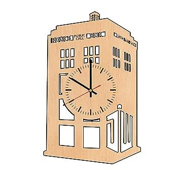 Amazon.com: Doctor Who Tardis natural wood wall clock - Get unique ...