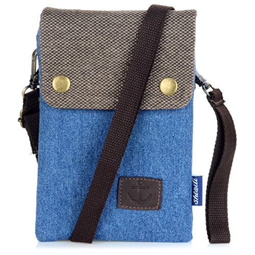 Mini Twins Small Crossbody Phone Pouch Purse Blue