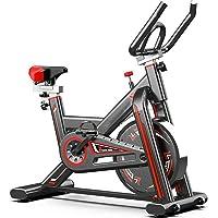 KirinSport Hometrainer fiets, LCD-display, indoor cycle met hartslagmeter, riemaandrijving & traploze weerstand…