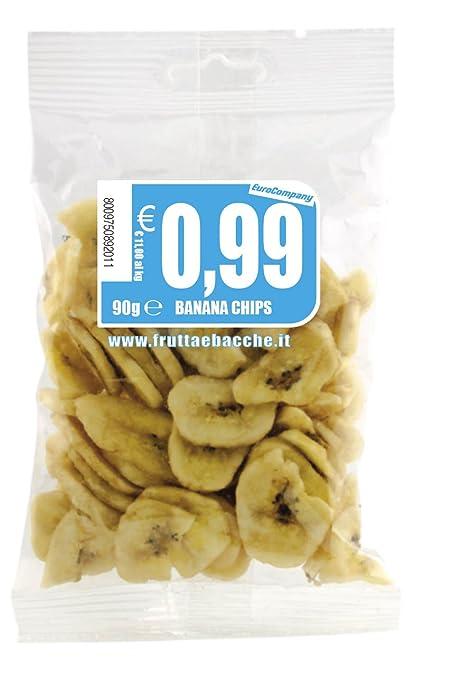 8 opinioni per EuroCompany Banana Chips- 90 gr- [confezione da 10]