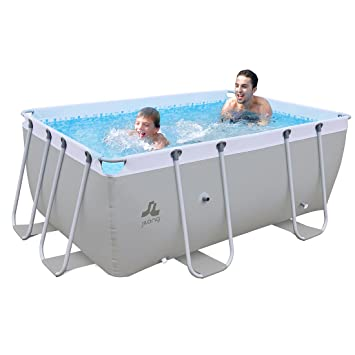 JILONG Swimming Pool Passaat Grey - Piscina con Armazón de Acero 295x200x84 cm, alberca Familiar, pileta para Jardín y terraza.: Amazon.es: Deportes y aire ...
