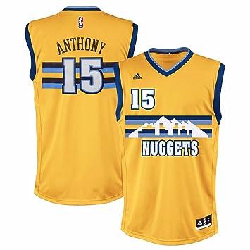 df82bcc50 adidas Carmelo Anthony Denver Nuggets NBA Hombres de Oro de la réplica de  la Camiseta