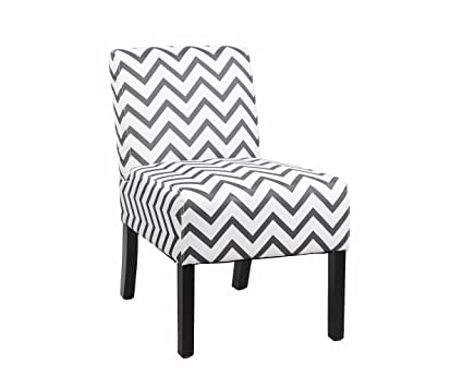 . Modern Fabric Upholstery Armless Accent Chair w  Pine Wood Legs for Kitchen  Dining Living Room  Striped Pattern