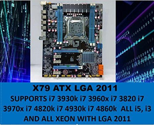 L@@K GAMEPOWER X79 Motherboard LGA 2011 ATX DDR3 Compatible with i7-3820/3930K/3960X/3970X/4820K/4930K/4960X and XEON V1 and V2 /I5/ I3 with LGA 2011