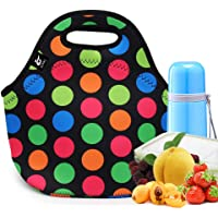 Large Neoprene Lunch Bag,LOVAC Thick Insulated Lunch Bag - Durable & Waterproof Lunch Tote with Zipper for Outdoor…