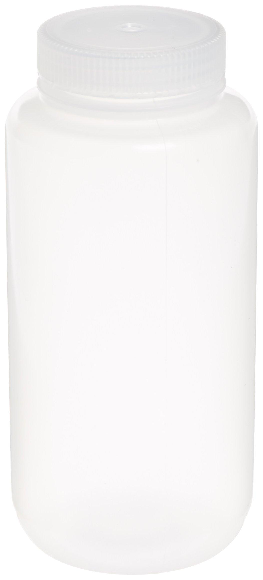 Nalgene Polypropylene Wide Mouth Packaging Bottle, 32 oz/1000ml(Case of 50)