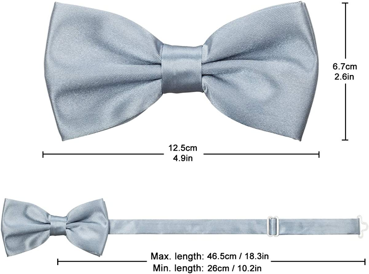 Bow Tie Adjustable Pre tied Bow ties with Box for Men Kids Boy