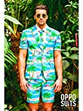 OppoSuits Men's Summer Suit in Different Prints - Includes Shorts, Short-Sleeved Jacket & Tie
