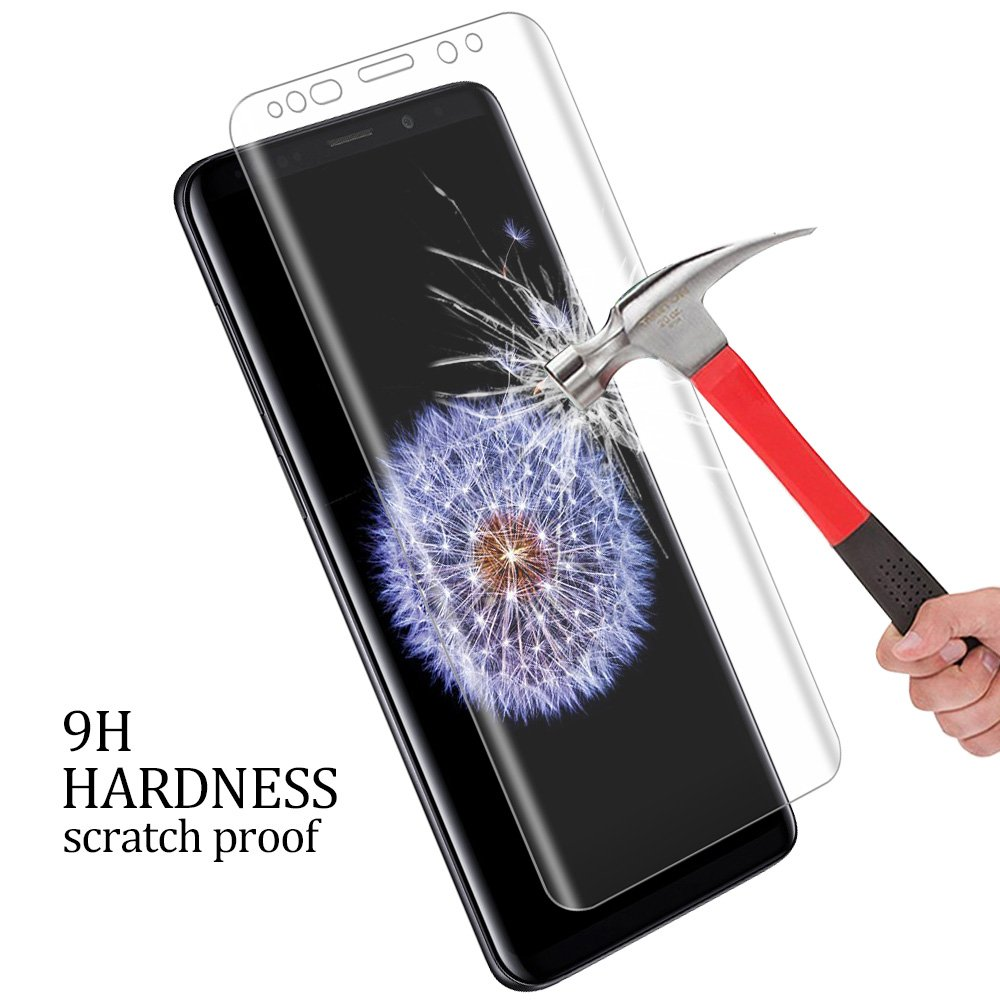 Galaxy S9 Plus Screen Protector, NOKEA Tempered Glass [Crystal Clear] [3D Curved Glass] [Full Coverage] [Easy Bubble-Free Installation] [Scratch Resist] for Samsung Galaxy S9 Plus-Clear (2 Pack) by NOKEA (Image #3)