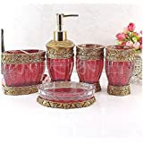 Amazon.com: Red - Bathroom Accessory Sets / Bathroom Accessories ...
