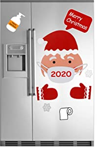 Christmas Santa Refrigerator Magnets Decorations Set, Cute Funny Fridge Magnet Stickers Xmas Holiday Garage Fridge Kitchen Cute Funny Decor