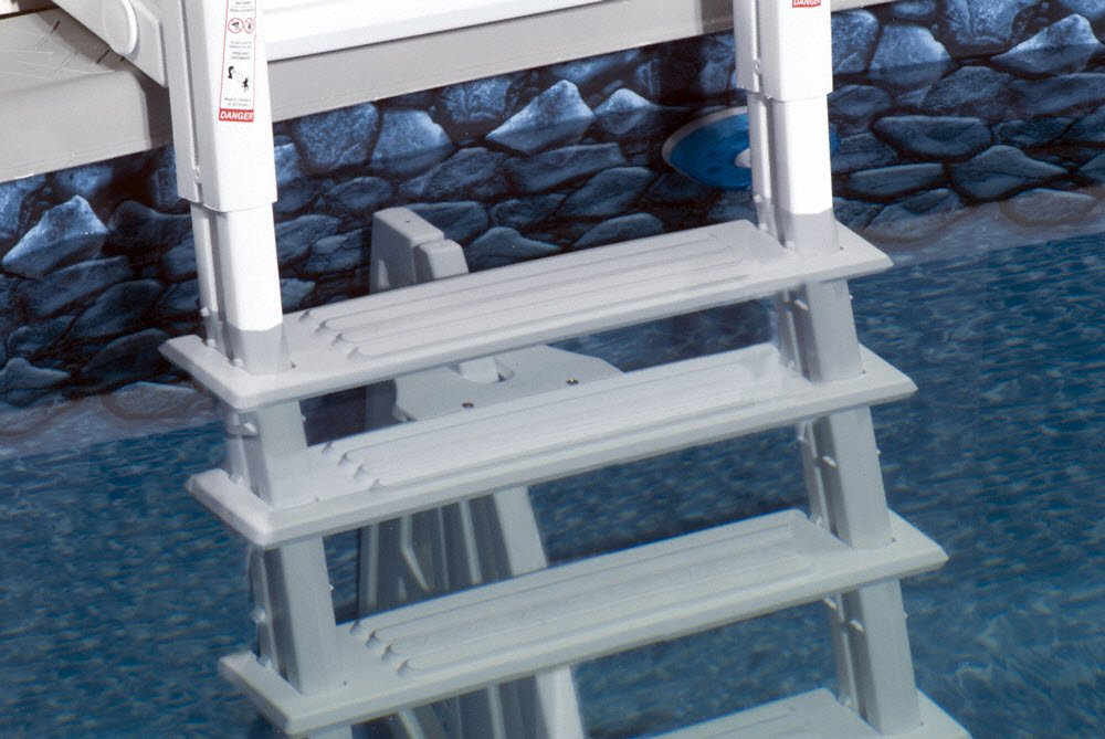 Amazon.com : 46 56 Inch Confer Above Ground Swimming Pool In Pool Ladder  Deluxe Pool Ladder : Garden U0026 Outdoor