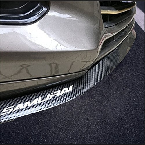 HengJia Auto Parts Universal Fit carbon-fiber Car front bumper spoiler lip ?Splitter Side Skirt Roof Spoiler,100% waterproof protection (2.5 meters, black) (Fiber Splitter Carbon Front)