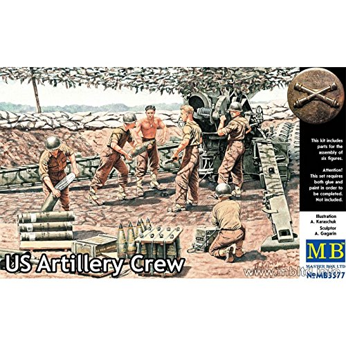 Master Box WWII US Artillery Crew (6) Figure Model Building Kits (1:35 (Military Dioramas)