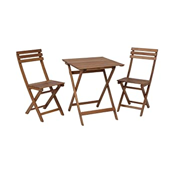 Amazon.de: Greemotion Balkonset Borkum - Balkonmöbel-set Aus Holz ... Tisch Fur Balkon Outdoor Bereich