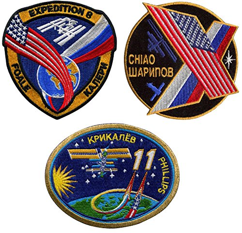Patch Set International Space Station Expedition 8 10 11 Official