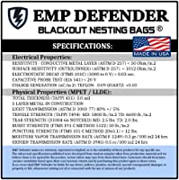 FARADAY CAGE EMP ESD BAGS 5 PC VARIETY SIZE PREPPER KIT BY EMP DEFENDER