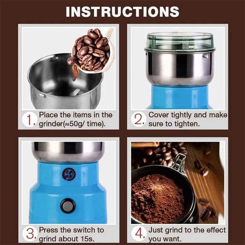 Multifunction Smash Machine Electric Coffee Bean GrinderNut Spice Grinding Coffee Grinder