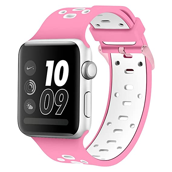 8fc10eb68b Amazon.com: Band Compatible Apple Watch 44mm 42mm, Alritz Silicone ...