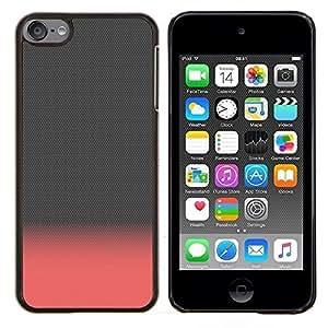 Eason Shop / Premium SLIM PC / Aliminium Casa Carcasa Funda Case Bandera Cover - Rosa melocotón Gray Clean minimalista - For Apple iPod Touch 6 6th Touch6