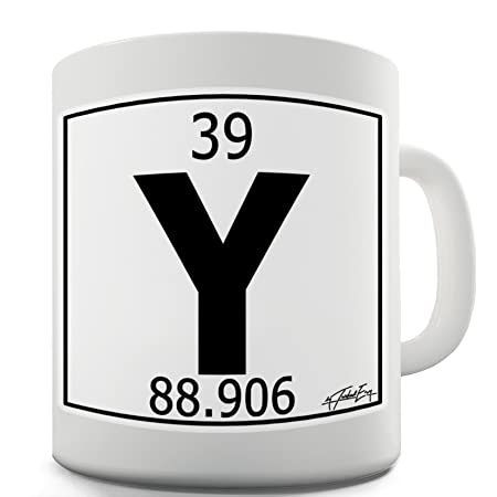 TWISTED ENVY Periodic Table Of Elements Y Yttrium Ceramic