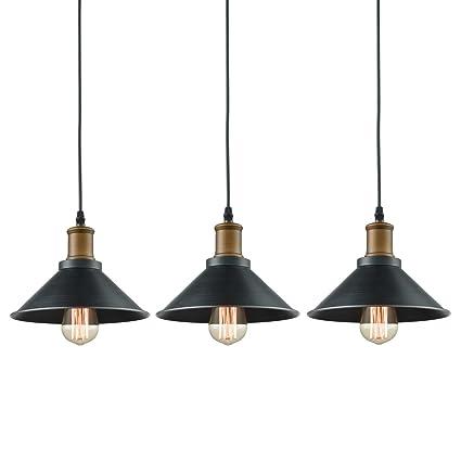Amazon.com: Dazhuan Ceiling Light 3-Lights Pendant Metal Hanging ...