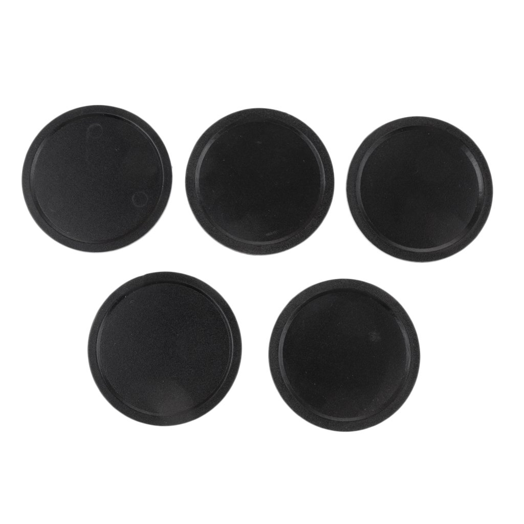 Sharplace 50mm & 60mm Plastic Air Hockey Pucks for Game Tables, Set of 5 - Black 50mm, as described
