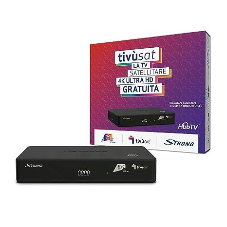 strong 4k ultra hd srt 7840  Strong SRT 7840 ricevitore satellitare DVB-S2 4K Ultra HD TV di ...