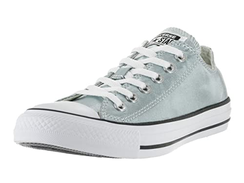 60db9f55a Image Unavailable. Image not available for. Color  Converse Unisex Chuck  Taylor All Star Ox Low Top Classic Metallic Glacier White Black