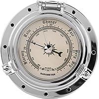 Medidor de humedad de la temperatura del reloj barómetro retro de Roma para barco SUV marino de yate de RV