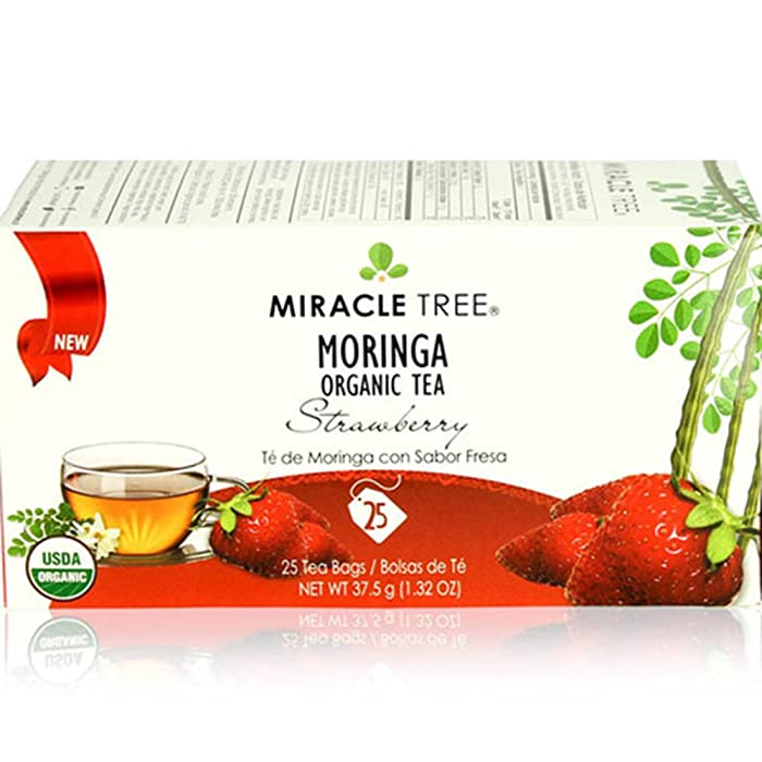 Miracle Tree's Moringa Tea: Strawberry