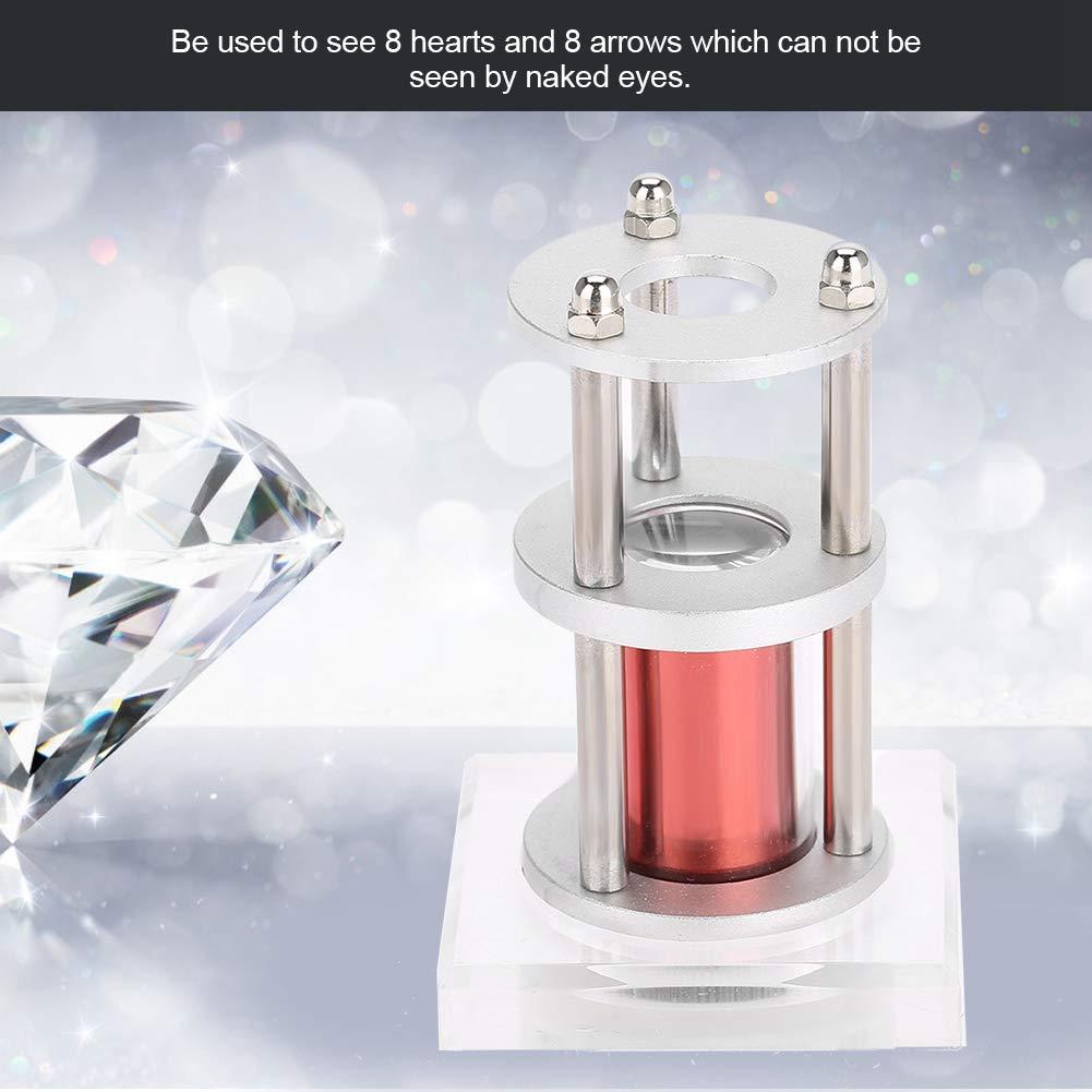Ampliaci/ón de la gama de los corazones y las flechas de la joyer/ía lupa de la herramienta del visor del corte de diamante de la lupa para el espectador del diamante