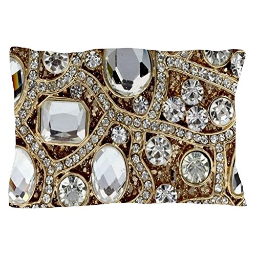 CafePress - Bohemian Girly Bling Rhinestone - Standard Size Pillow Case, 20