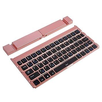 Teclados Zariavo, Mini Teclado inalámbrico Bluetooth para iPhone PC Tablet + Holder: Amazon.es: Electrónica
