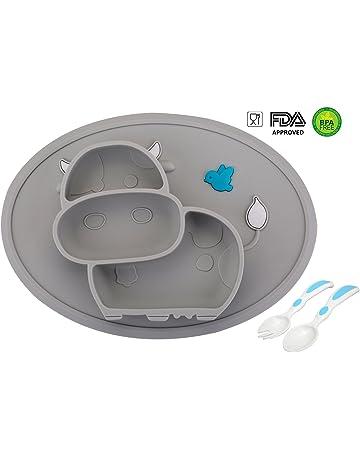 Womdee Baby Teller Silikon Rutschfester Silikonteller Baby Teller mit Saugnapf Esslernteller BPA-frei Baby Teller Sch/üssel Mini Silikon Tischset f/ür Baby Kleinkinder und Kinder Tragbar Teller