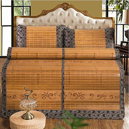 Sommerbettmatte Matten Bambus Matten Matratzen Matten können gefaltet Werden Doppel-Single (kein Kissenbezug) 180  200cm (Farbe   A, größe   150  195cm) B 150195cm