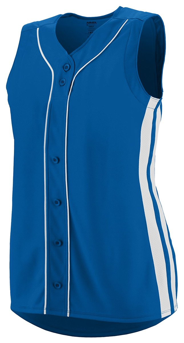 Augusta Sportswear Girls ' WinnerノースリーブSoftball Jersey B01C5G93SG Medium|ロイヤル/ホワイト ロイヤル/ホワイト Medium