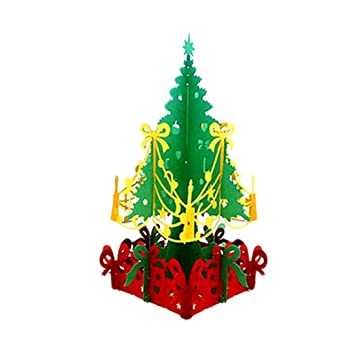 feliz navidad tarjeta de navidad 3d laser corte papel navidad tarjetas de felicitacin - Tarjeta De Navidad En 3d