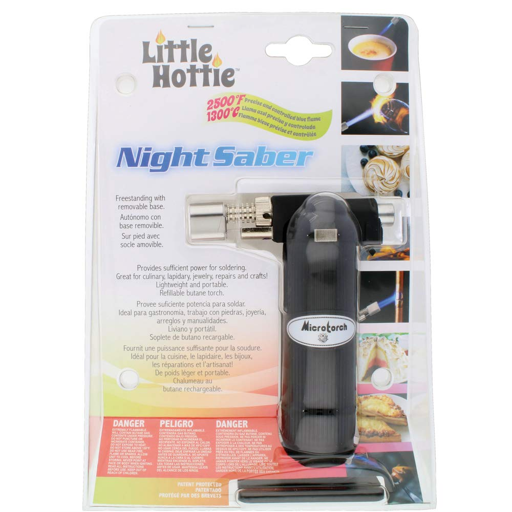 Amazon.com: Little Hottie Night Saber Butane Torch, Black, Soldering, Lapidary, Jewelry, Repairs, Crafts, Light Weight & Portable, Refillable Butane - 5 ...